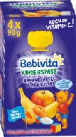 Quetschbeutel Kinderspass Banane, Apfel & Aprikose mit Joghurt ab 1 Jahr, 4x90g