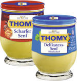 Thomy Delikatess Senf versch. Sorten, jedes 250-ml-Glas