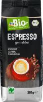 dmBio Espresso gemahlen