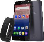 Smartphones - Alcatel POP 4+ 5056D inkl. Moveband 16 GB Silber/Schwarz Dual SIM