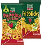 funny-frisch Paprika Ecken, Ringli, Jumpys 75 g, oder Frit-Sticks, ungarisch 100 g, jeder Beutel