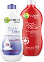 Garnier Body Repair oder Body Urea Creme-Milk versch. Sorten, jede 400-ml-Flasche