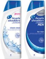 head & shoulders Anti-Schuppen-Shampoo oder 2 in 1 versch. Sorten, jede 400/500-ml-Flasche