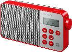 Radiogeräte - Sony XDR-S40DBP DAB+ Radio (UKW, DAB, DAB+, Rot)