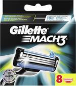 Gillette Mach3 Rasierklingen, jede 8er-Packung