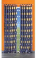 """Vorhang """"Sonne/Mond/Sterne"""" mit Schlaufen und Gardinenband, ca. 140 x 245 cm, blau-gelb"""