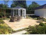 Gartenhaus Victoria 1400, weiß, Dach anthrazit