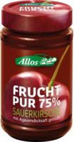 Allos Frucht Pur Sauerkirsche 250g Glas