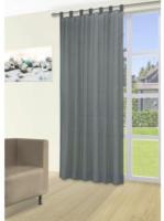 Vorhang Silk, mit Schlaufen, ca. 140 x 225 cm, anthrazit