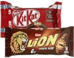KitKat, KitKat Chunky 5er, Lion oder Nuts 6er-Multipacks, jede 208/180/168-g-Packung