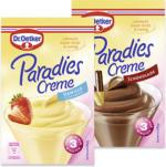 Dr. Oetker Paradiescreme Vanille oder Schokolade, jede 60/74-g-Packung und weitere Sorten