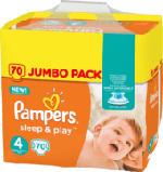 Windeln Sleep & Play, Größe 4 Maxi, 8-16kg, Jumbo Pack