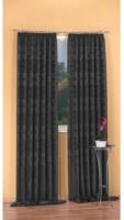 """Vorhang """"Tizian"""" mit Gardinenband, ca. 140 x 245 cm, schwarz"""