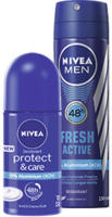 Nivea Deo Spray oder Roll on versch. Sorten, jede 150/50-ml-Dose/Roll on