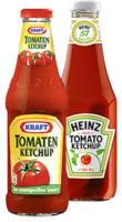 Kraft Tomatenketchup oder Heinz Tomatoketchup jede 750-ml-Flasche