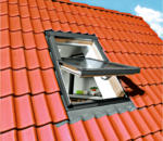 Durabil Holz Dachfenster 55x98 cm natur