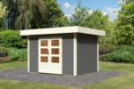 Karibu Gartenhaus Multi Cube 3 28 mm, Terragrau