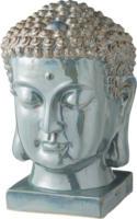 Buddhakopf, Keramik, türkis