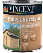 Vincent 2in1 Holzschutzlasur patinagrau 750 ml