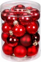 Weihnachtskugeln Ruby Red-Mix 45mm, aus Glas