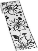 Borte Blume schwarz-weiß