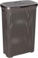 Curver Rattan-Wäschebox Style, dunkelbraun, 40 L