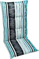 GO-DE Sesselauflage, Hochlehner, 120x50x6 cm, gestreift