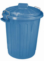 Curver Mülleimer Charlie-Tonne L, blau, 46 L
