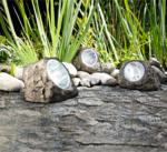LED-Solar-Steinleuchte, anthrazit