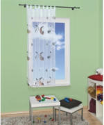 """Vorhang """"Mond und Schaf"""", ca. 140 x 180 cm, weiß"""