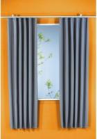 Vorhang Linus, Verdunkelungsqualität, ca. 140 x 175 cm, silber