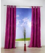 Vorhang Eighty, mit Schlaufen, ca. 140 x 235 cm, beere