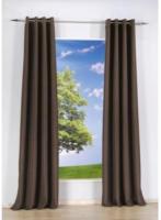 Vorhang Uni, mit Ösen, aus Baumwolle, ca. 140 x 240 cm, schwarz