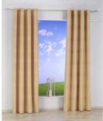 Vorhang Ripped, mit Ösen, aus Baumwolle, ca. 140 x 240 cm, beige