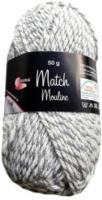 Wolle Match-Moulinè, grau-weiss