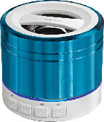 Bluetooth Docking-Stations - Peaq PPA20BT Bluetooth Lautsprecher Blau