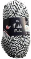 Wolle Match-Moulinè, schwarz-weiss