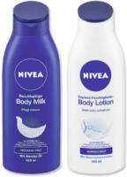 Nivea Express Feuchtigkeits Lotion oder Reichhaltige Body Milk jede 400-ml-Flasche