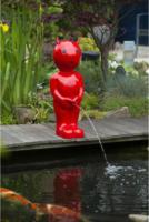 Ubbink Wasserspeier Boy Teufel, groß, rot
