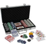 Texas Hold'em Poker-Set 300 Chips Case