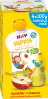 Quetschbeutel Hippis Apfel-Birne-Banane ab 1 Jahr, 4x100g