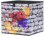 Stoffbox Alfa Graffiti anthrazit