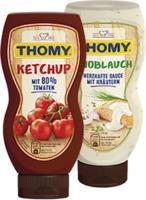 Thomy Grillsaucen oder Thomy Ketchup versch. Sorten, jede 230-ml-Flasche