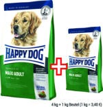 HAPPY DOG Supreme Fit & Well MAXI ADULT, 4 kg + 1 kg Beutel