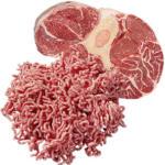 Frisches Rinderhackfleisch oder Rinderbeinscheibe je 1 kg