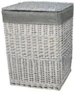 Wäschekorb grau, ca. 38x27x52 cm