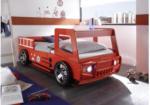 Autobett Spark Feuerwehr Rot, 90 cm