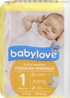 Windeln Premium extra weich Größe 1, newborn 2-5kg