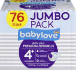 babylove Windeln Premium aktiv plus Größe 4+, maxiplus 9-20kg, Jumbo Pack 2x38 Stück