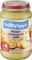 Früchte Pfirsich-Maracuja mit Apfel nach dem 4. Monat